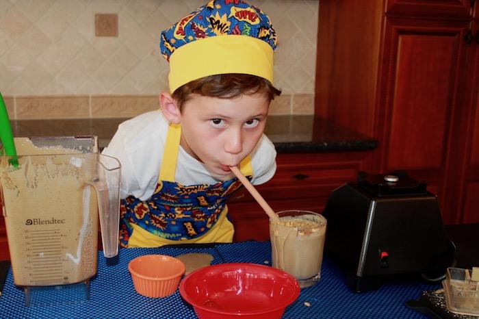 breakfast smoothie boy drinking