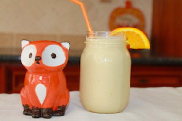 tn orange coconut smoothie with fox