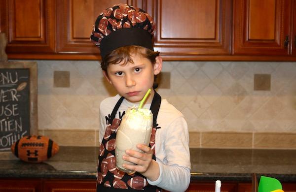 powerhouse protein smoothie with boy