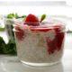 Banana Chia Seed Pudding with Raspberry Sauce