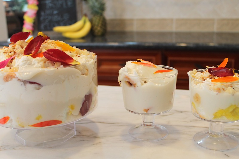 hawaiian trifle and mini trifles