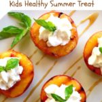 grilled peaches with whipped cream