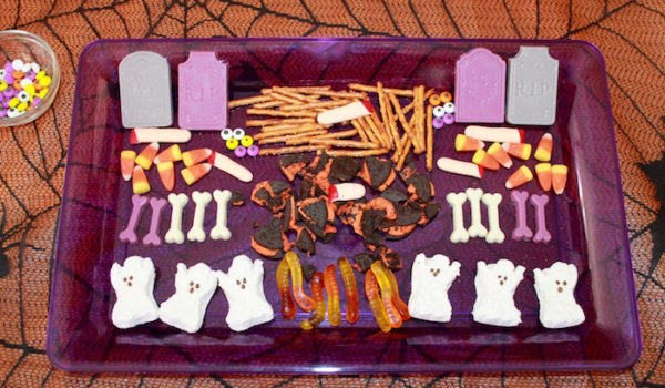 Halloween Graveyard Candy Bark