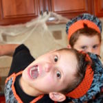 halloween candy boys scary faces
