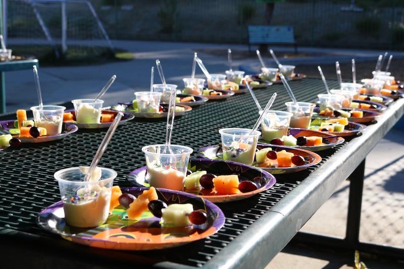 halloween fruit kabobs school