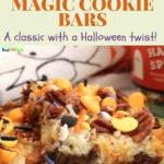 halloween magic cookie bars pin