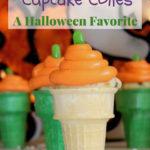 pumpkin cupcake cones pin