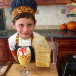 boy with pumpkin pie smoothie