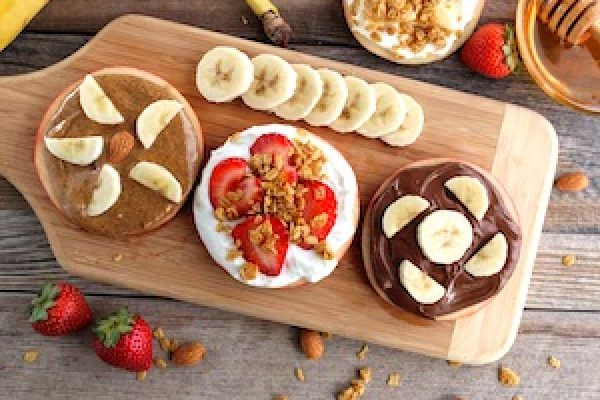 easy apple snacks with nut butters tn