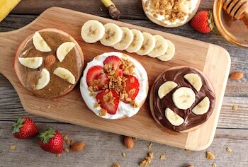 easy apple snacks with nut butters