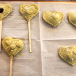 blueberry heart- pie pops pre bake