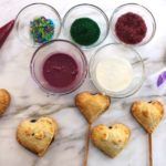 blueberry heart pie pop set up