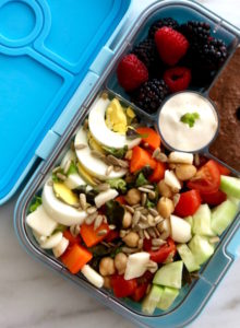 high protein salad lunchbox