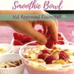 raspberry honey smoothie bowl pin