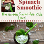 coconut spinach smoothie pin