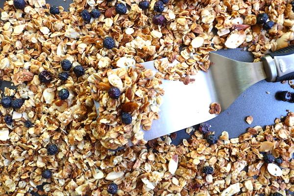 homemade granola fresh baked