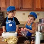 tn boys laughing making banana ice cream