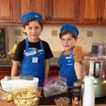 boys set up banana ice cream
