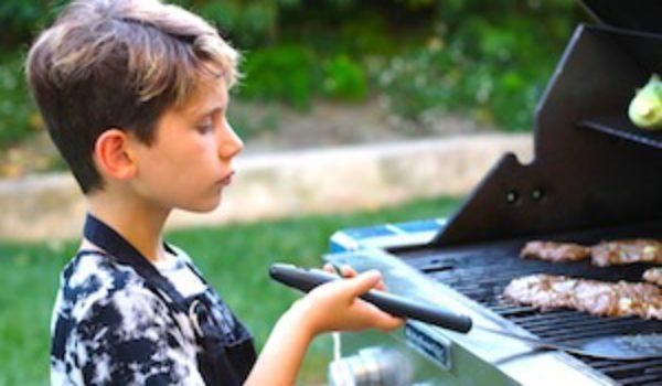 grilled steak fajitas kids grilling