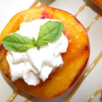 grilled peach and cream