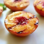grilled peach with-grill marks