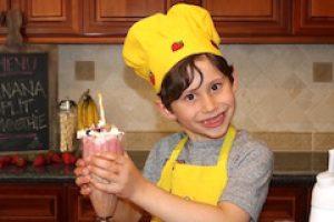 kids banana split smoothie