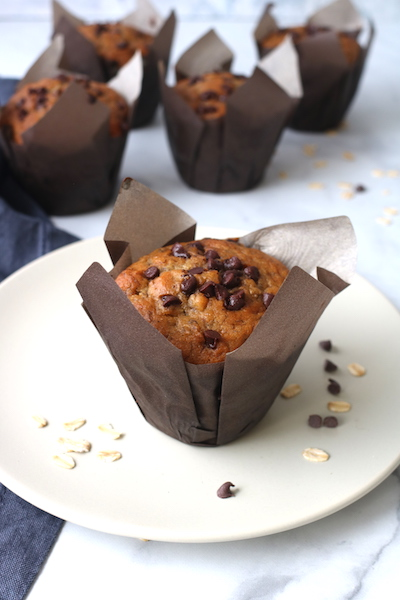banana chocolate chip muffins bakery style