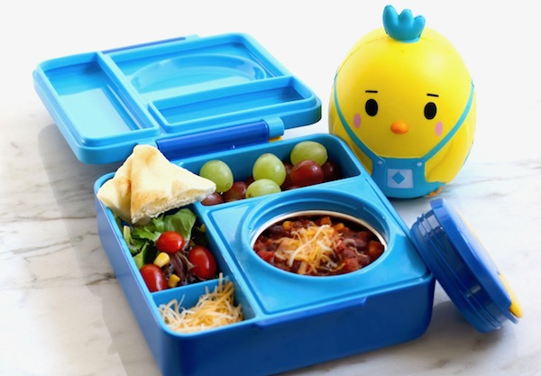best 3 bean chili lunchbox with chicken