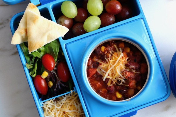best 3 bean chili lunchbox