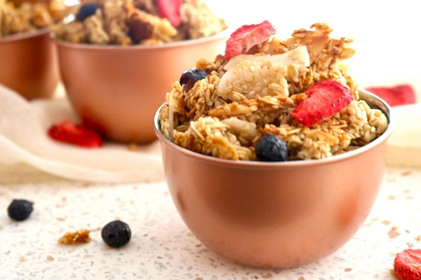 crunchy granola snack with dried fruit