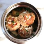 easy turkey meatball lunch in thermos