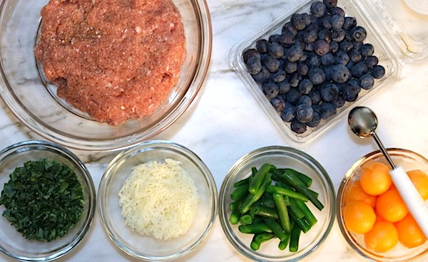 easy turkey meatball lunch ingredients