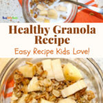 healthy granola recipe pin