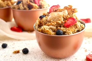 tn crunchy granola snack with dried fruit