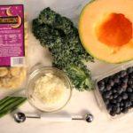 tortellini and fruit setup