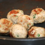 turkey meatballs cooked in pan