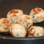 turkey meatballs cooked in pan