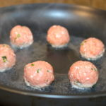 turkey meatballs steam in pan