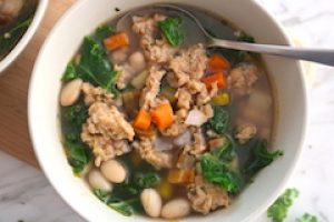 tn chicken sausage soup white bean and kale close