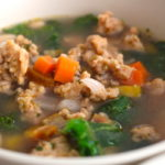 chicken sausage soup with veggies