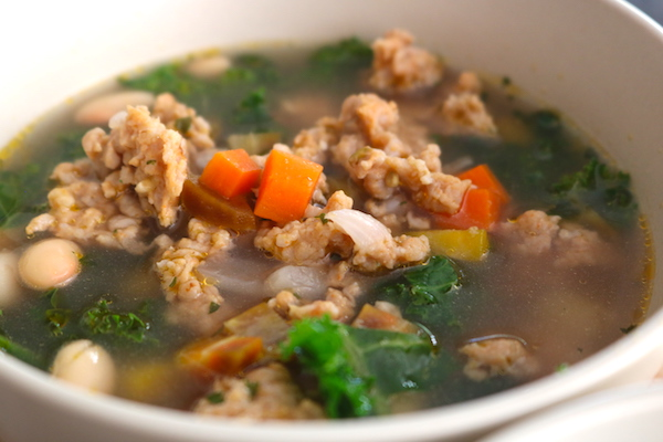turkey sausage soup with veggies