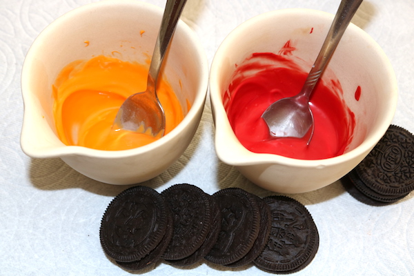 melted candy melts oreos