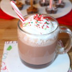 candy cane cocoa recipe with whipped cream