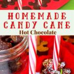 candy cane hot chocolate pin