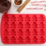gingerbread molds for candy cane cocoa recipe