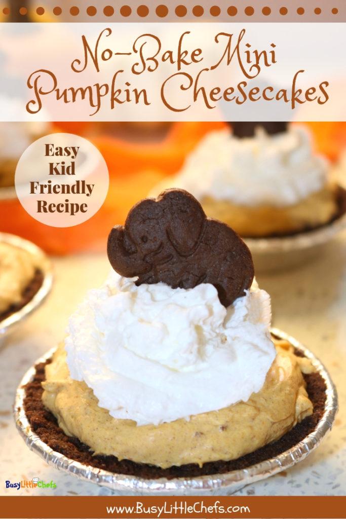 mini pumpkin cheesecake recipe pin