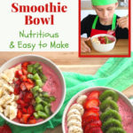 strawberry banana smoothie bowl pin