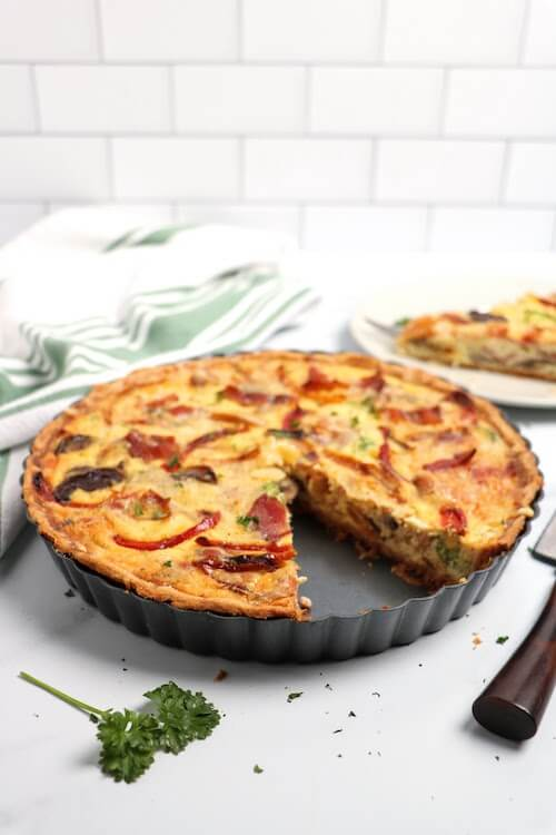 best quiche recipe sliced