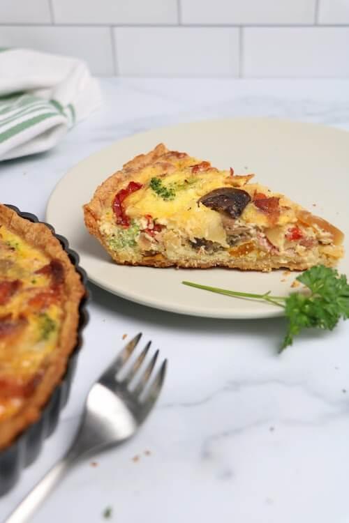 sliced best quiche recipe