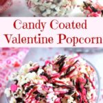 candy coated valentine popcorn pin
